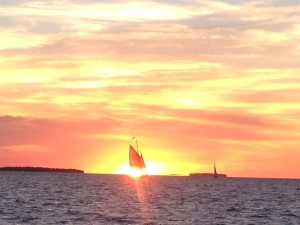 sailboat sunset