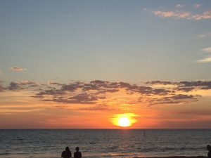 sunset, beach, florida, ocean, clearwater